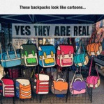 These Backpacks Look Like Cartoons...