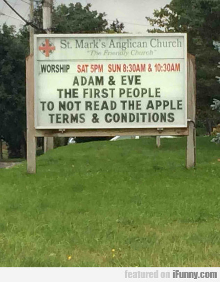 Adam And Eve Didn't Think Different