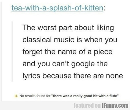 Classic Problem Of Classical Music