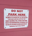 Do Not Park Here