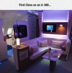 First Class On An A-380...