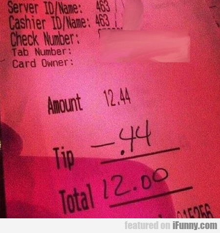 That's Not How Tipping Works