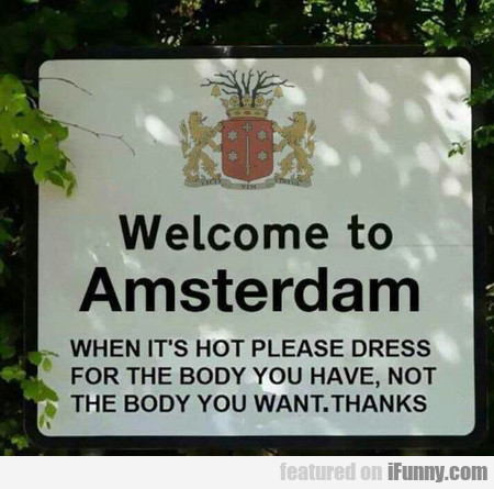 Welcome To Amsterdam Visitor