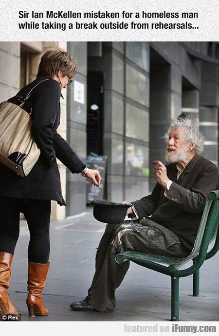 Sir Ian Mckellen Mistaken For A Homeless Man