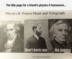 The Title Page For A Friend's Physics