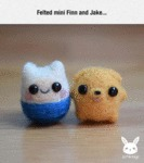 Felted Mini Finn And Jake...