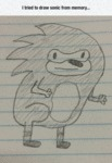 I Tried To Draw Sonic From Memory...