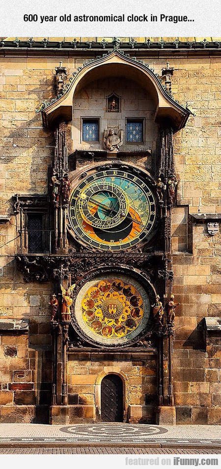 600 Year Old Astronomical Clock In Prague...