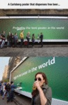 A Carlsberg Poster That Dispenses Free Beer...