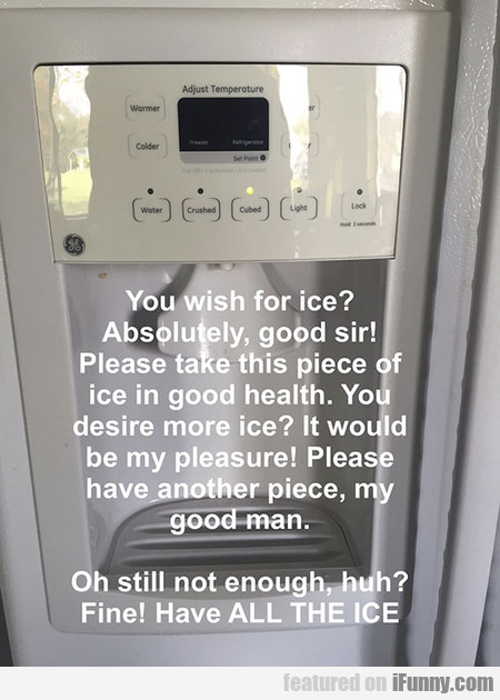The Ice Maker Truth
