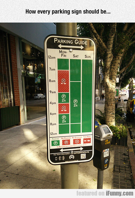How Every Parking Sign Should Be...