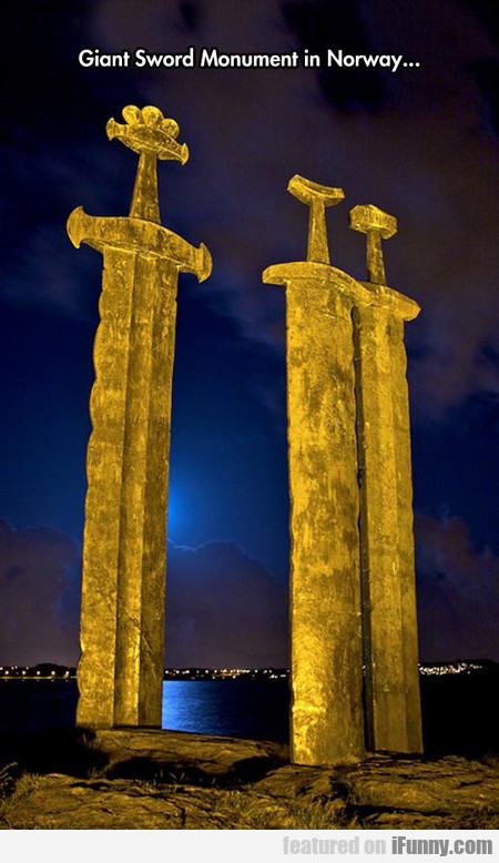 Giant Sword Monument In Norway...