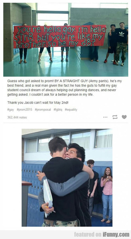 A Straight Guy Asks His Gay Friend To Prom