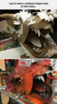 I Got To Make A Cardboard Dragon Head