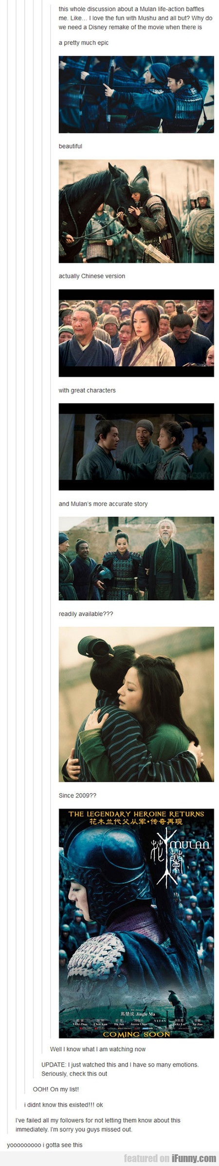 A Live-action Mulan Movie?