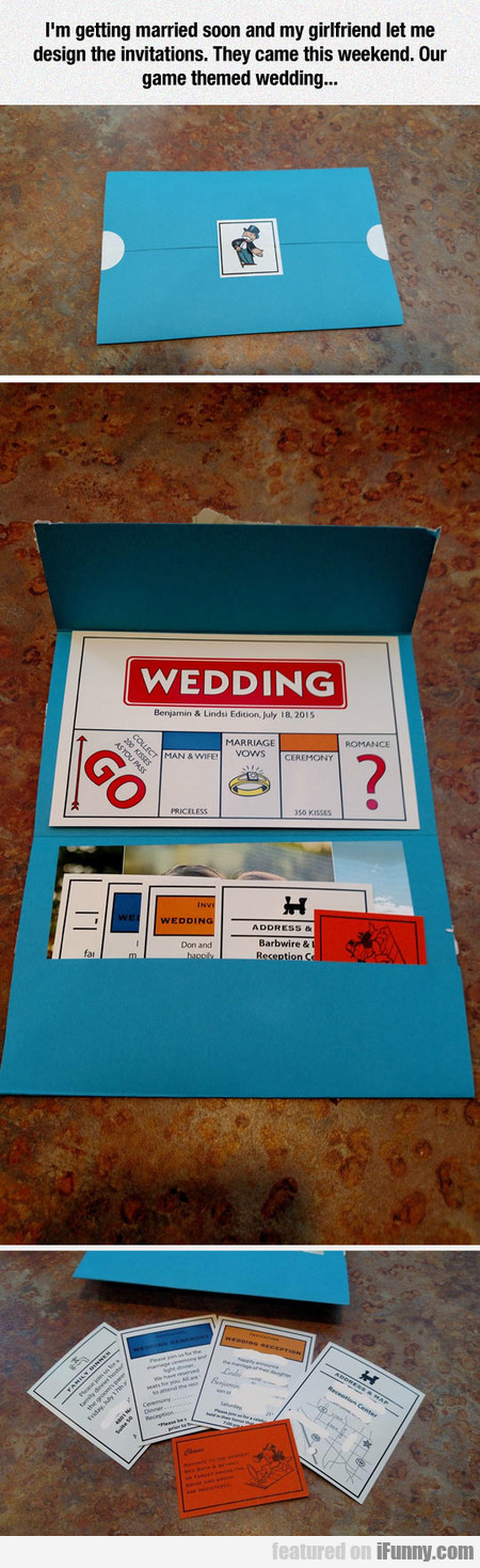 Game Themed Wedding Invitations