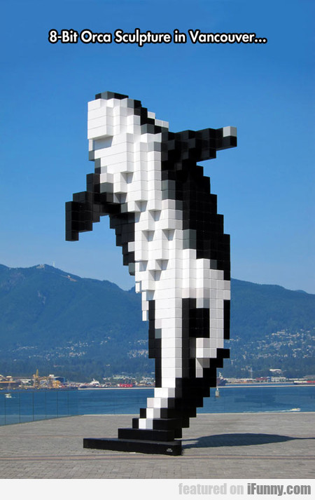8-bit Pixelated Orca