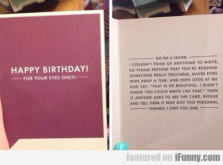 I Need This Birthday Card