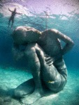18 Foot Underwater Statue Located In The Bahamas