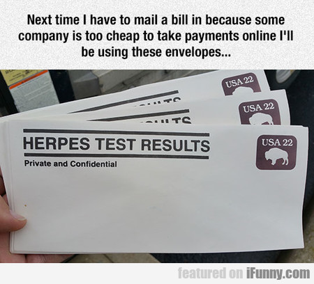 I'll Be Using These Envelopes...