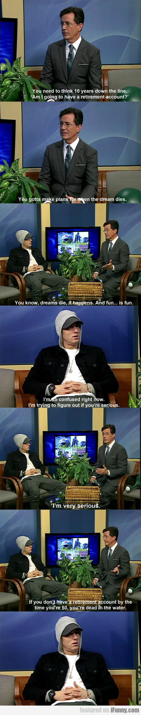 Colbert And Eminem In The Same Room