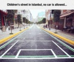 Children's Street In Istanbul, No Car Is Allowed..