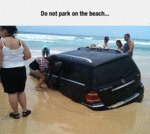 Do Not Park On The Beach...