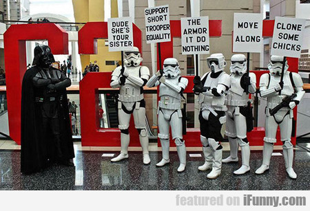 Another Stormtrooper Protest