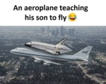 An Aeroplane Teaching His Son To Fly