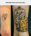 Best Tattoo Cover Up I've Ever Seen...