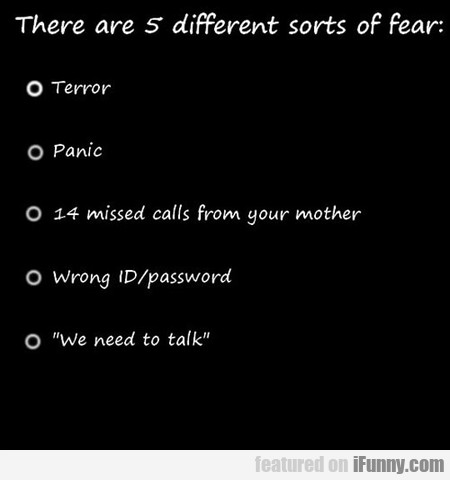 The Five Kinds Of Fear