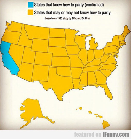 Map Of States That Know How To Party