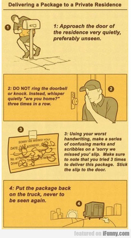 Delivery Instructions For Ups Drivers