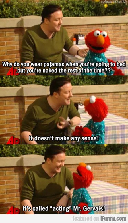 Elmo Teaches Ricky Gervais An Important Lesson