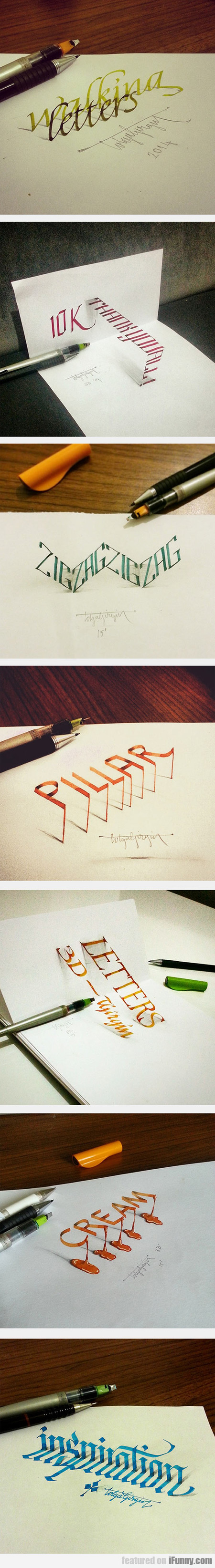 Beautiful Examples Of Anamorphic Lettering