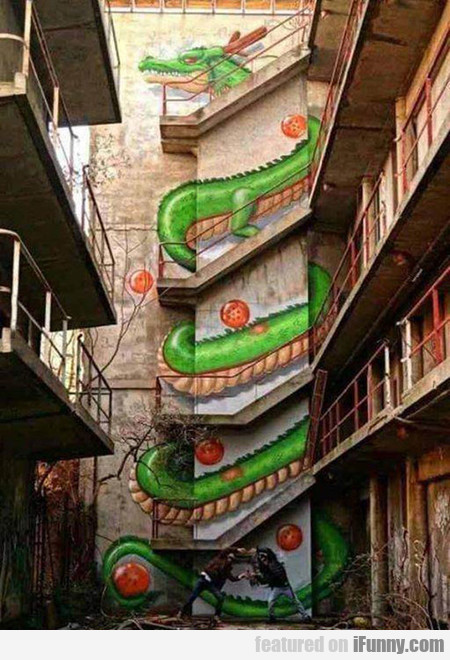 Amazing Dragon Ball Staircase Art