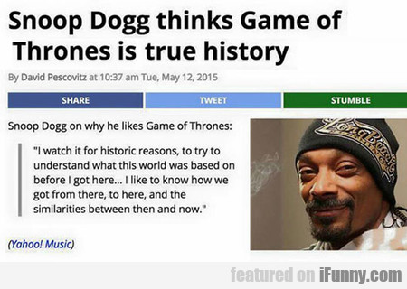 Oh, Snoop Dog...