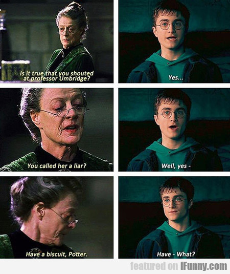 Professor Mcgonagall Telling It Like It Is