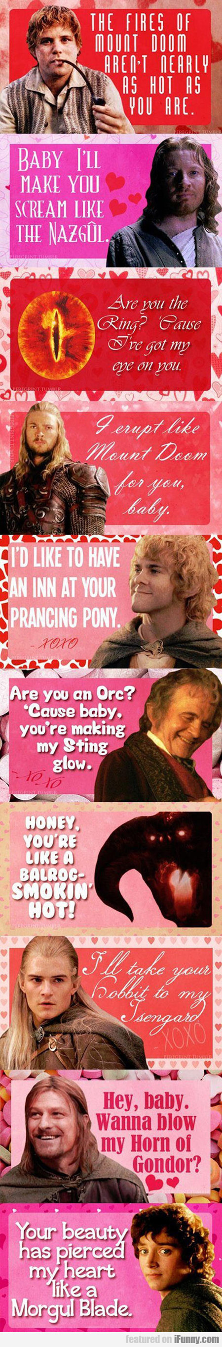 Pick-up Lines From Lord Of The Rings