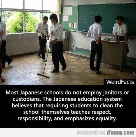 Most Japanese Schools Do Not Employ Janitors