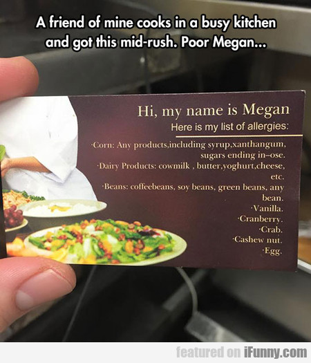 Maybe You Should Eat Home, Megan