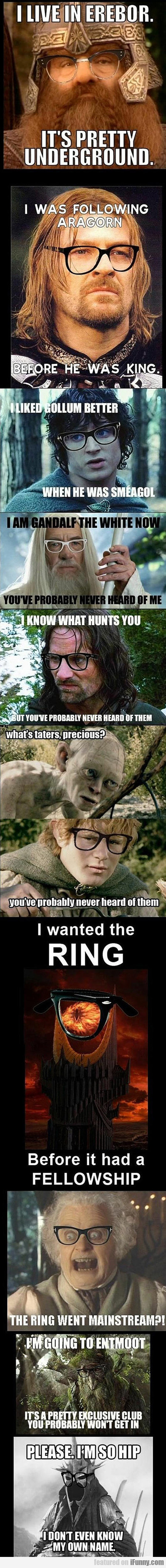 The Lord Of The Rings Is Full Of Hipsters