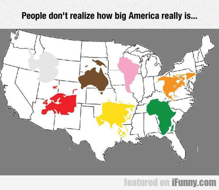 The Real Size Of America