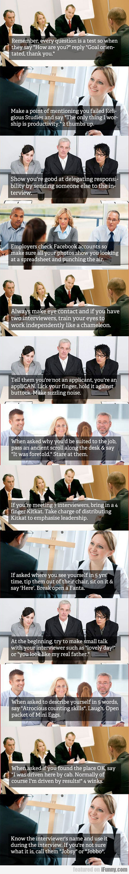 Some Good Job Interview Tips