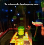 The Bathroom Of A Swedish Gaming Store...