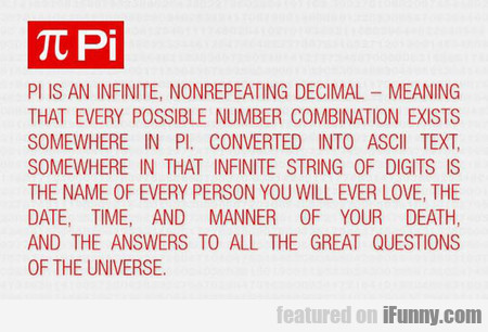 Pi Is More Than You Think