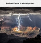 The Grand Canyon Lit Only By Lightning...