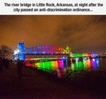 The River Bridge In Little Rock, Arkansas