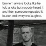 Eminem's Serious Look