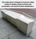 This London Bench Is A Challenge